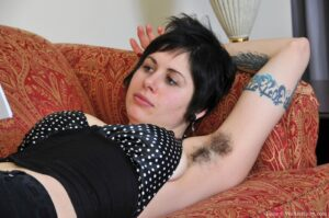 Tattooed minx Luna has a tight hairy ass