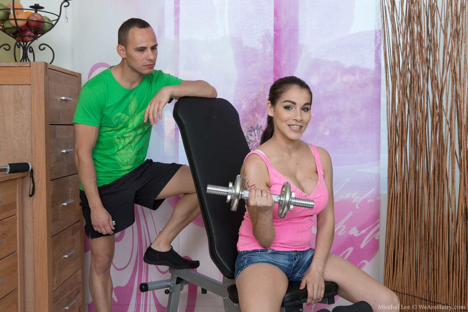 Gym fun leads to intense sex with Mischel Lee