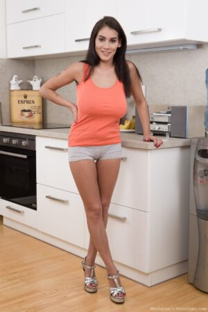 Mischel Lee enjoys sexiness in her kitchen