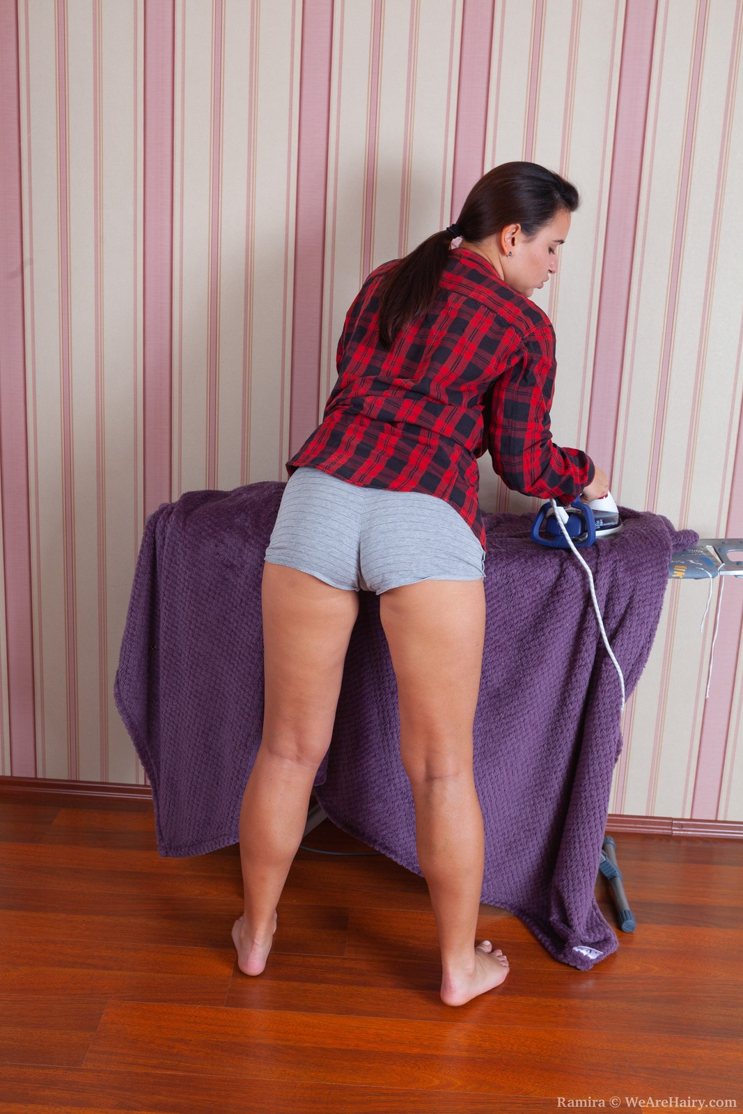 Ramira strips naked after some ironing work